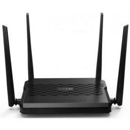 Беспроводной маршрутизатор ADSL Tenda D305 802.11bgn 300Mbps 2.4 ГГц 3xLAN USB черный