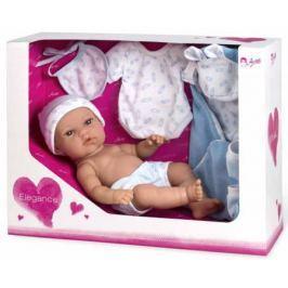 Arias ELEGANCE кукла винил. 33 см. с пинетками, одеяльцем, одеждой, голуб. цвет в корбке 37x13,50x28,50 см.