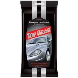 Салфетки влажные Top Gear для стекол,фар,зеркал 30 шт