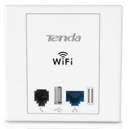 Точка доступа Tenda W6 802.11bgn 300Mbps 2.4 ГГц 1xLAN серебристый