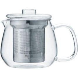 Чайник заварочный Winner WR-5220 прозрачный металлик 0.65 л металл/стекло