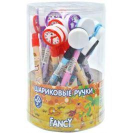 Ручка шариковая FANCY ЧАСИКИ, пластиковый курпус, синие чернила