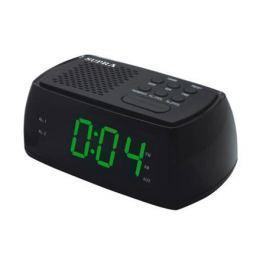 Часы с радиоприёмником Supra SA-45FM зелёный чёрный