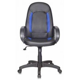 Кресло Бюрократ CH-826/B+BL искусственная кожа черно-синий