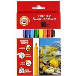 Набор фломастеров школьных РЫБЫ, 10 цветов, картонная коробка с европодвесом