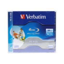 Диск Blu-Ray Verbatim BD-R 6x 50 GB Jewel Printable (43736)