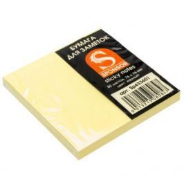 Бумага с липким слоем SPONSOR 80 листов 76x76 мм желтый 9073215080847