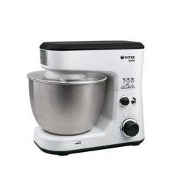 1438(GY) Кухонная машина VITEK Мощность 900 Вт. Cтальная чаша вместимостью 4 л. Съемные насадки.