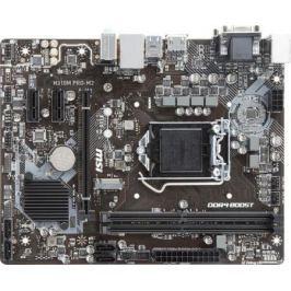Материнская плата MSI H310M PRO-M2 Socket 1151 v2 H310 2xDDR4 1xPCI-E 16x 2xPCI-E 1x 4 mATX Retail