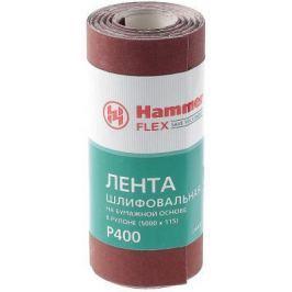 Лента шлиф. Hammer Flex 216-017 115х5м P400 бум. основа, рулон