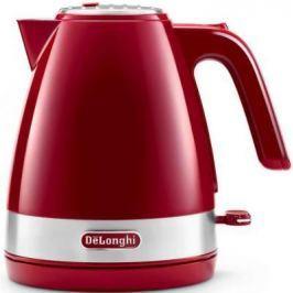 Чайник электрический Delonghi KBLA 2000.R 1л. 2000Вт красный (корпус: пластик)