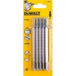 Пилка д/лобзика DEWALT DT2085-QZ п/мет.HSS 132x108x1.2x3 мм, T318A 5шт