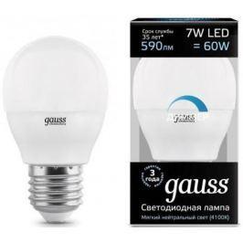 Лампа светодиодная шар Gauss 105102207-D E27 7W 4100K