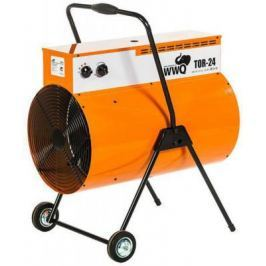 Тепловая пушка WWQ TOR-24 24000 Вт термостат колеса для перемещения ручка для переноски чёрный оранжевый