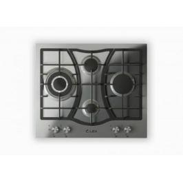 Встраиваемая газовая варочная панель LEX GVS 643 Inox 9250Вт 4 комфорки нерж.сталь