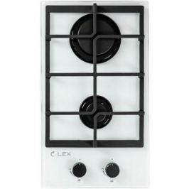 Встраиваемая газовая варочная панель LEX GVG 321 white 4000Вт 2 комфорки белый