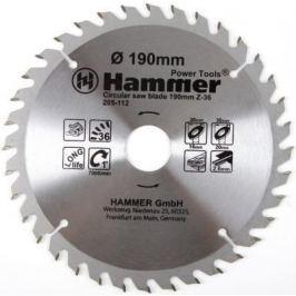 Диск пильный Hammer Flex 205-112 CSB WD 190мм*36*30/20/16мм по дереву