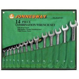 Набор комбинированных ключей JONNESWAY W26414S (9.5 - 31.75 мм) 14 шт.