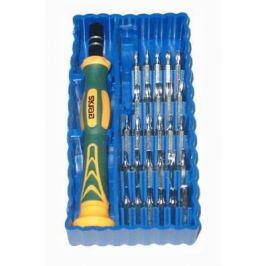Отвертка мини SKRAB 42625 (синий набор) 29пр.: биты, адаптер, для точной механики