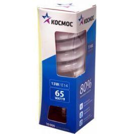 Лампа энергосберегающая КОСМОС 13Ватт 2700К Е14 Т2