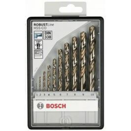 Набор сверл BOSCH Robust Line HSS-Co 10 шт. (2.607.019.925) металл, 1-10мм, 10шт.