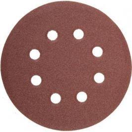 Круг фибровый STAYER MASTER 35452-125-080 8 отверстий велкро P80 125мм 5шт.