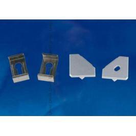 Набор аксессуаров для алюминиевого профиля (4 шт.) Uniel UFE-N04 Silver