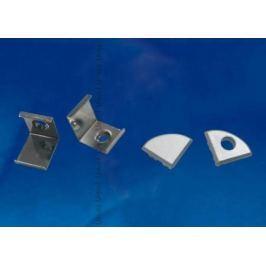 Набор аксессуаров для алюминиевого профиля (4 шт.) Uniel UFE-N06 Silver