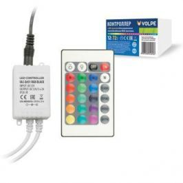 Контроллер для светодиодных лент RGB 12В с пультом ДУ (UL-00001113) Volpe ULC-Q431 RGB BLACK