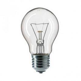 Лампа накаливания PHILIPS A55 40W E27 CL груша прозрачная