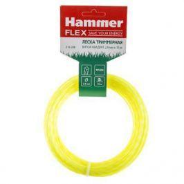 Леска триммерная Hammer Flex 216-208 на подвесе, 2.0мм*15м, витой квадрат