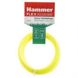 Леска триммерная Hammer Flex 216-207 на подвесе, 1.6мм*15м, витой квадрат