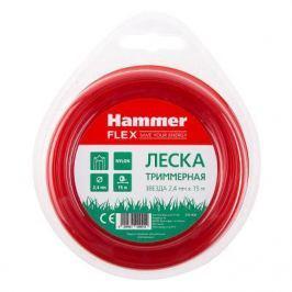 """Леска триммерная Hammer Flex 216-402 2.4мм*15м сечение """"звезда"""""""