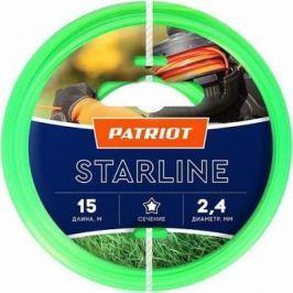 Леска для триммеров PATRIOT Starline D 2,4мм L 15м звезда, зеленая 240-15-3 Арт 805201061