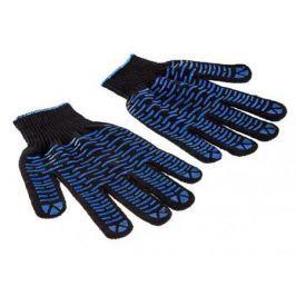Перчатки Hammer Flex 230-018 ХБ с ПВХ покрытием, 5 нитей, черные