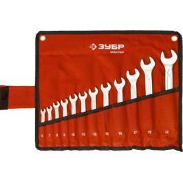 Набор рожковых ключей ЗУБР 27087-H12 (6 - 22 мм) 12 шт.