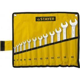 Набор комбинированных ключей STAYER 27081-H12 (6 - 22 мм) 12 шт.