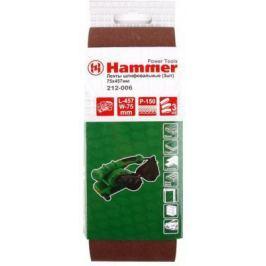 Лента шлиф. Hammer Flex 212-006 75 Х 457 Р 150 по 3 шт.