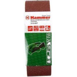 Лента шлиф. Hammer Flex 212-007 75 Х 533 Р 40 по 3 шт.