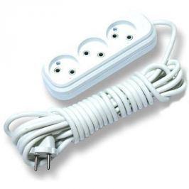 Удлинитель сетевой LUX У3-0-03 белый 3-местный без заземления, 220В 10А, 3м (45)