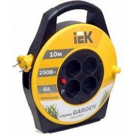 Удлинитель ИЭК УК10 Industrial 10м. на катушке 4 гнезда с заземлением ПВС 3*1.0 с термозащитой