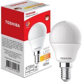 Лампа TOSHIBA 01301315168A светодиодная гольф 40Вт 2700k 80ra nd Е14 frosted-1 pk