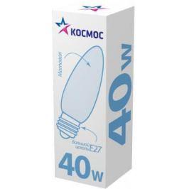 Лампа накаливания КОСМОС 40 Ватт, свеча матовая Е27