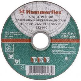 115 x 1.2 x 22,23 A 54 S BF Круг отрезной Hammer Flex 232-010 по металлу и нержавеющей стали