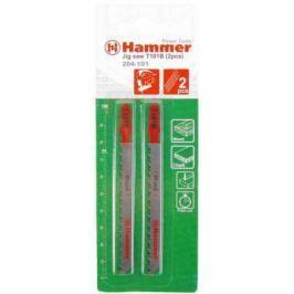 Пилка для лобзика Hammer Flex 204-108 JG WD-PL T144D дерево, 74мм, шаг 4.0-5.2, HCS, 2шт.