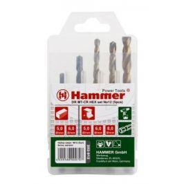 Набор сверл HAMMER Flex 202-912 DR набор No12 HEX 5-8мм металл\\камень, 5шт.