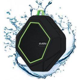 Портативная акустика Sven PS-77 5Вт Bluetooth черный зеленый