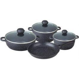 4607-BK Набор посуды SCHWARZMARBEL Premium 7пр.Состав: литой алюминий.