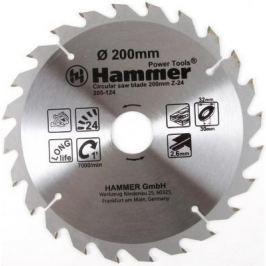 Диск пильный Hammer Flex 205-124 CSB WD 200мм*24*32/30мм по дереву