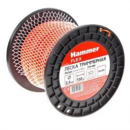 Леска триммерная Hammer Flex 216-406 2,4мм*150м сечение - звезда